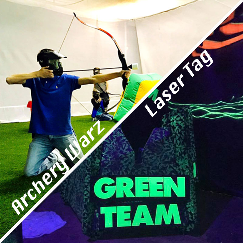 Laser Tag and Archery Warz combo packages