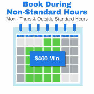 book during non standard hours