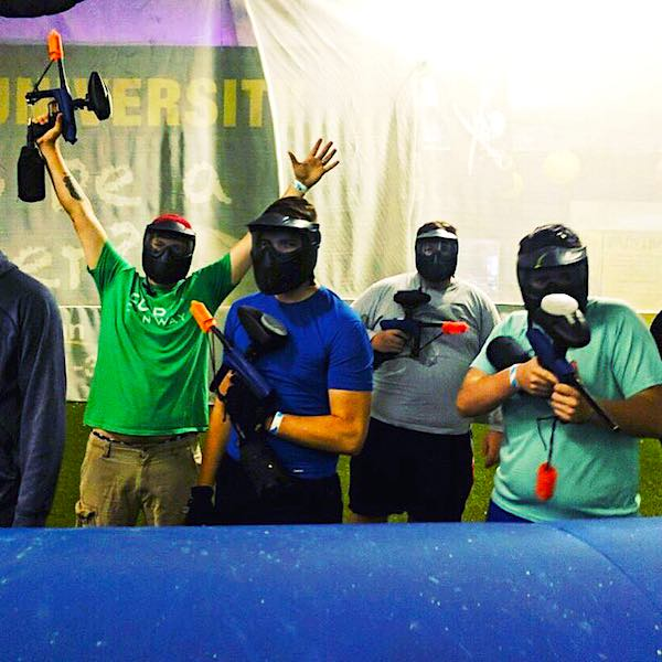 guys on low impact paintball field