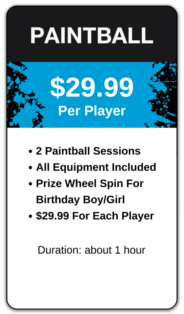 Paintball birthday party package