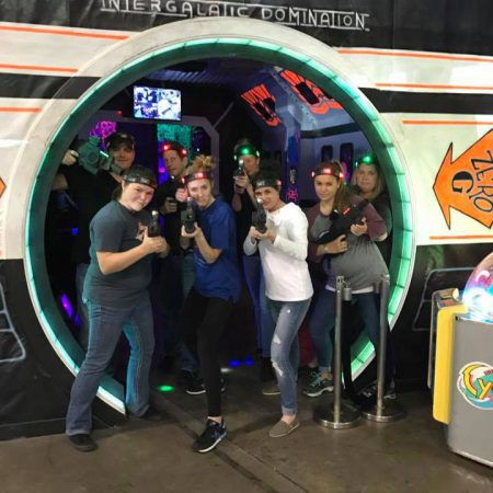 Laser tag adult group